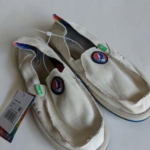Sanuk Donna Hemp Grateful Dead Size 8